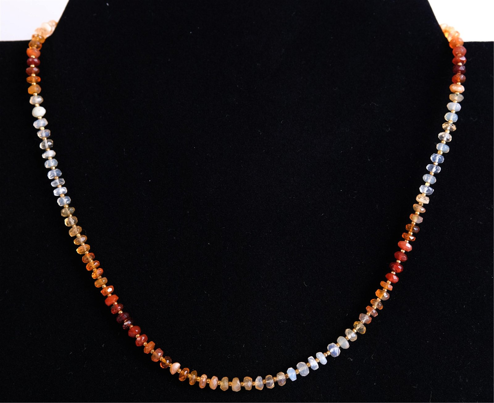 14K Natural Opal Bead Necklace