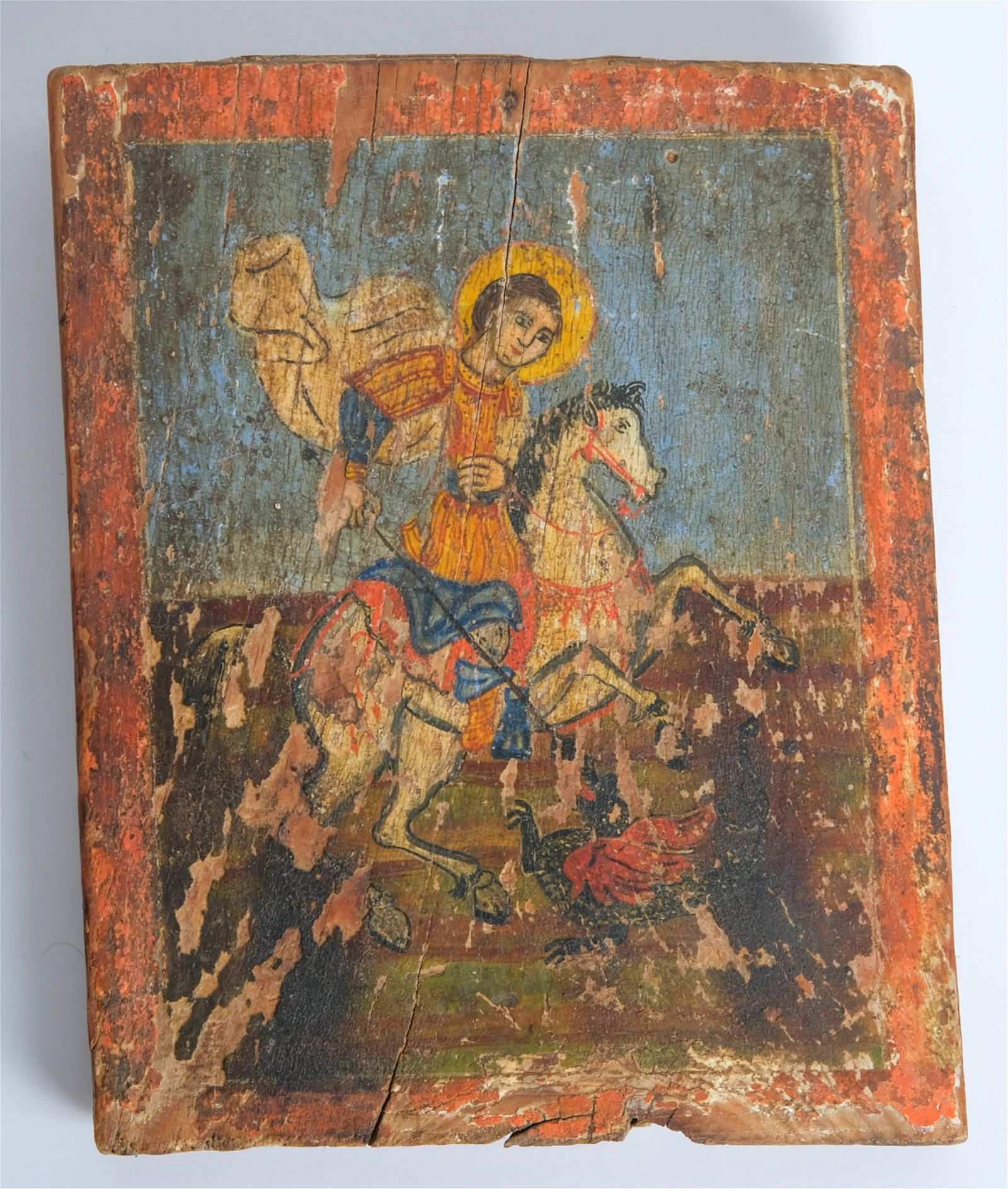 Russian/Greek Icon St. George, late 19th/20th
