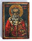 Russian/Greek Icon depicting St. Nicholas, 19th C