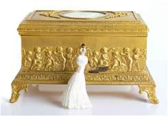Louis XV Style Gilt Bronze Jewelry Casket