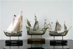 3 925 Sterling Ships of Columbus Nefs