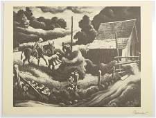Thomas Hart Benton Haystack Lithograph Signed