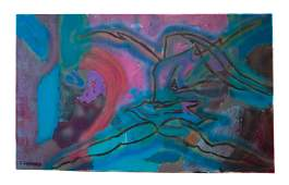 Contemporary Figural Abstract Painting on Canvas