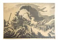 Two Thomas Hart Benton Lithographs, Signed