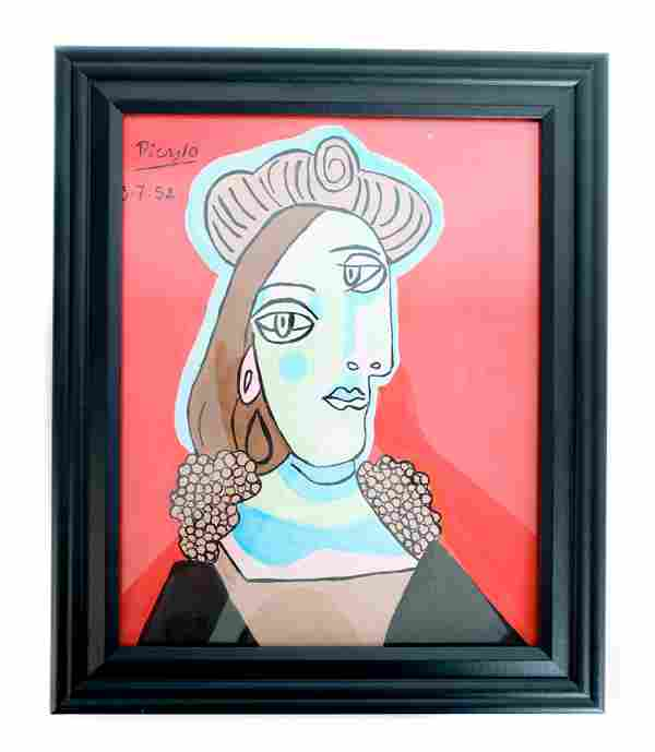 Marina Picasso, Gouache/Paper, Galerie Mathias Fels