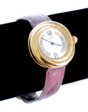 Must de Cartier Trinity Vermeil Wrist Watch 2735