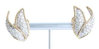 14k YG Petal Shaped 150 CTW Diamonds