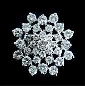 Vintage 14k White Gold 2.44 CTW Diamond Pin