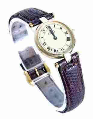 Must de Cartier 925 Sterling Vermeil Watch