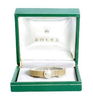 Vintage Ladies 14k Yellow Gold Rolex Watch