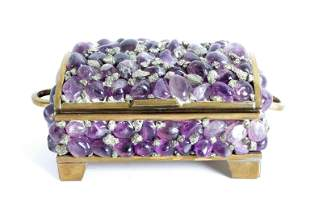 Amethyst & Iron Pyrite Nugget Treasure Box