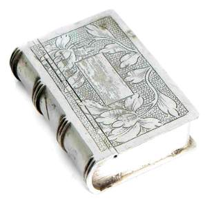 Sterling Silver Book Shaped Pill or Snuff Box