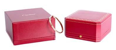 Attr. Cartier 18k YG Diamond LOVE Bracelet