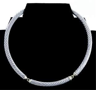 David Yurman 14K Sterling Cable Necklace