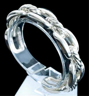 David Yurman Sterling Wellesley Chain Link Cuff