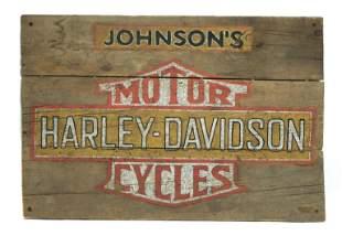 Harley-Davidson Rustic Wood Sign
