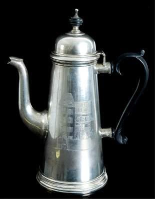 Tiffany & Co. Sterling Silver Coffee Pot 1950's