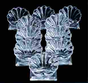 10 Baccarat Crystal Bambous Place Card Holders