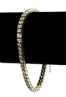 14k Yellow Gold 6 Ctw Diamond Tennis Bracelet