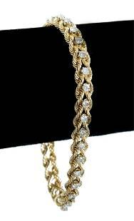 14k Yellow Gold Tennis Bracelet w/32 Diamonds