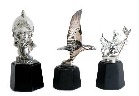 Group, 3 Franklin Mint Hood Ornaments