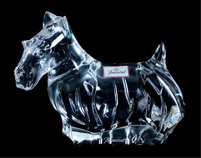 Baccarat Crystal Scottie Dog Figurine Paperweight