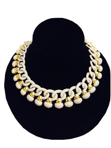 75 Carat Diamond Necklace after Bulgari