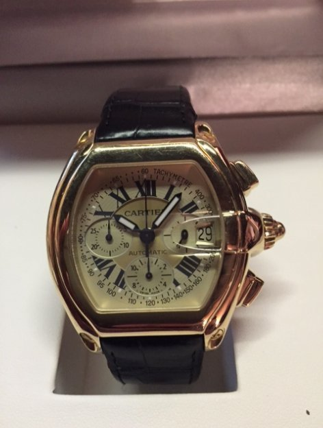 18k Mens Cartier Roadster Chronograph XL
