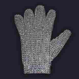 Michael Jackson Owned Worn Swarovski Glove