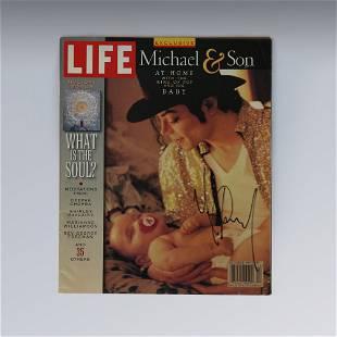 Michael Jackson Signed LIFE Magazine