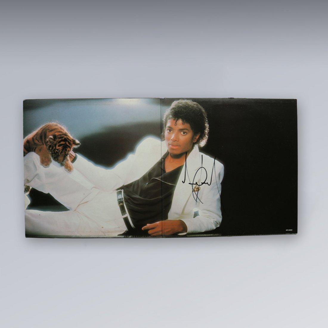 Michael Jackson Signed Thriller LP Album #1