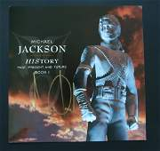 Michael Jackson Signed HIStory Album Display