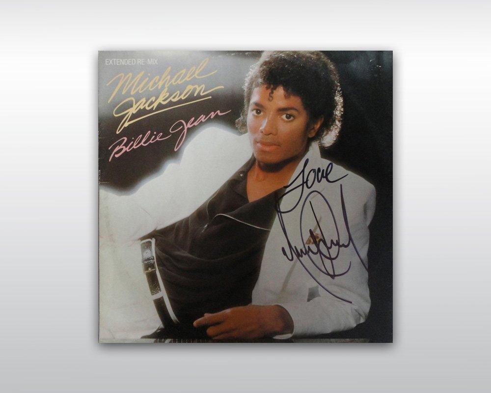 15: MICHAEL JACKSON SIGNED 12-INCH BILLIE JEAN SINGLE