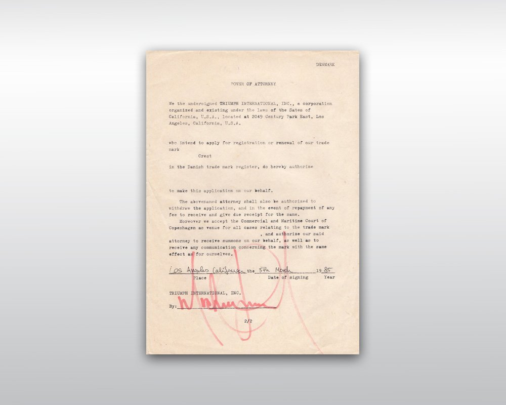 17: MICHAEL JACKSON SIGNED POWER OF ATTORNEY