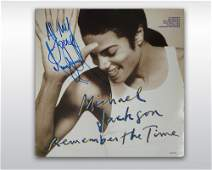31 MICHAEL JACKSON SIGNED REMEMBER THE TIME SINGLE