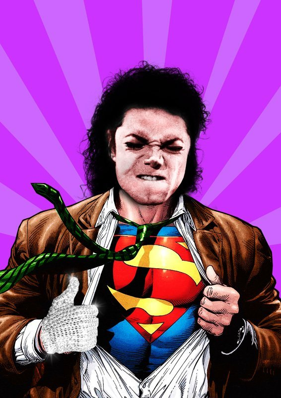 MICHAEL JACKSON LIMITED SUPERMAN POP-ART PRINT #1