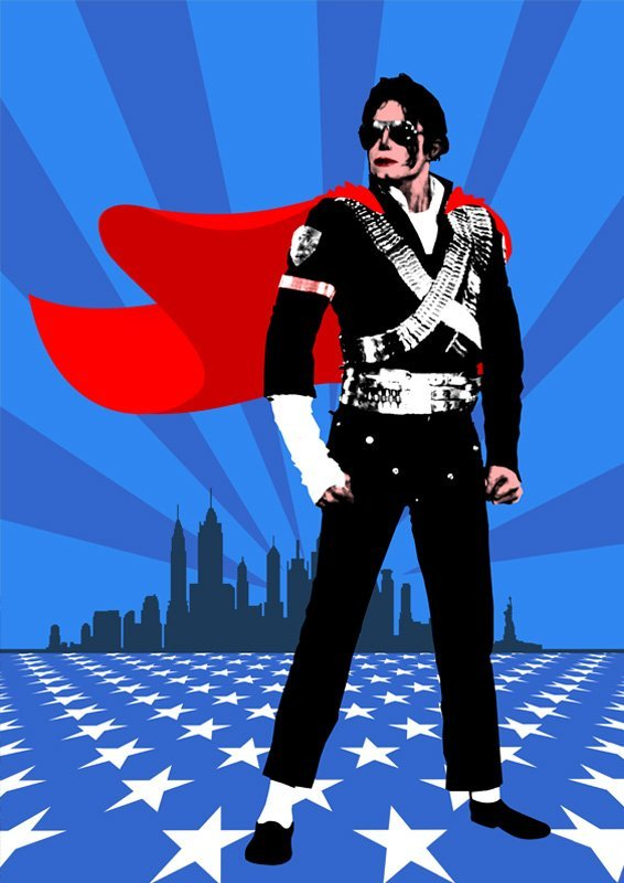 MICHAEL JACKSON LIMITED HERO POP-ART PRINT #1