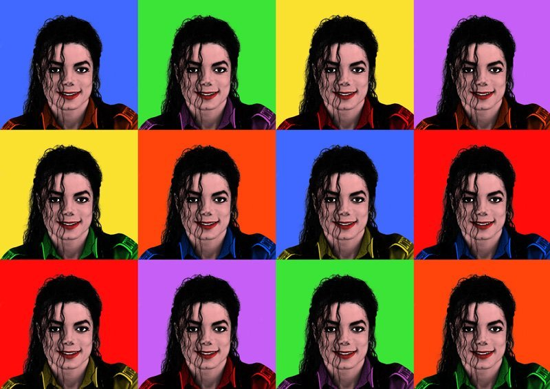 MICHAEL JACKSON LIMITED POP-ART PRINT