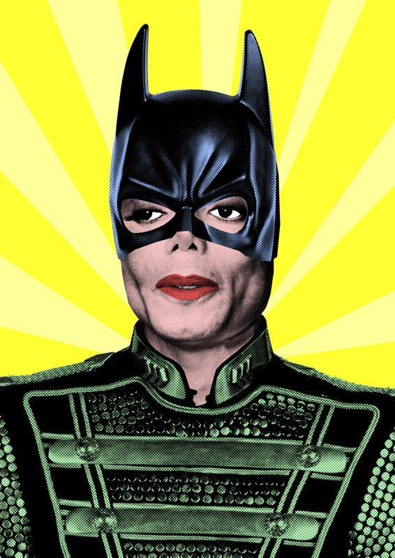 MICHAEL JACKSON LIMITED BATMAN POP-ART PRINT #1