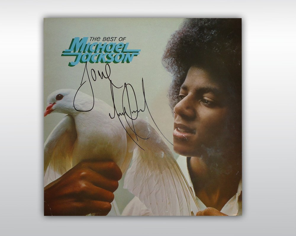 MICHAEL JACKSON SIGNED THE BEST OF 12-INCH ALBUM