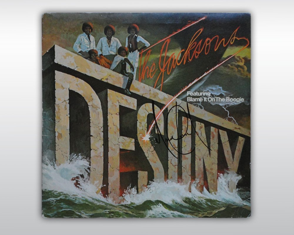 MICHAEL JACKSON SIGNED JACKSONS DESTINY 12-INCH ALBUM