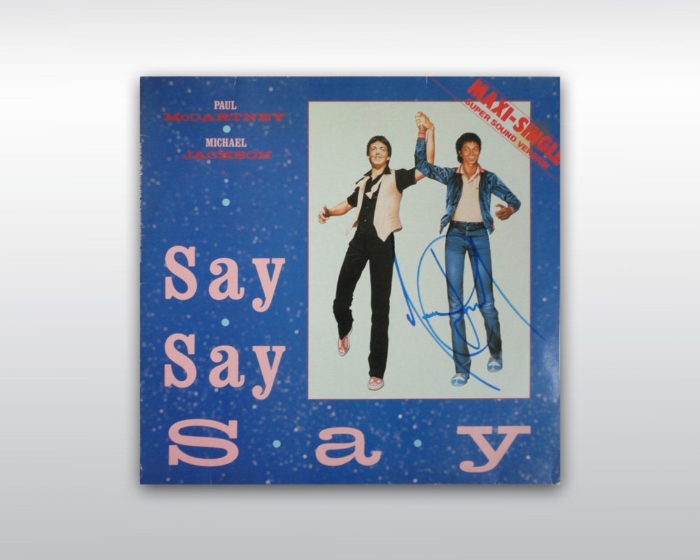 MICHAEL JACKSON SIGNED SAY SAY SAY 12-INCH SINGLE