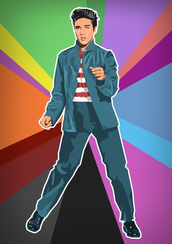 ELVIS PRESLEY LIMITED POP-ART PRINT