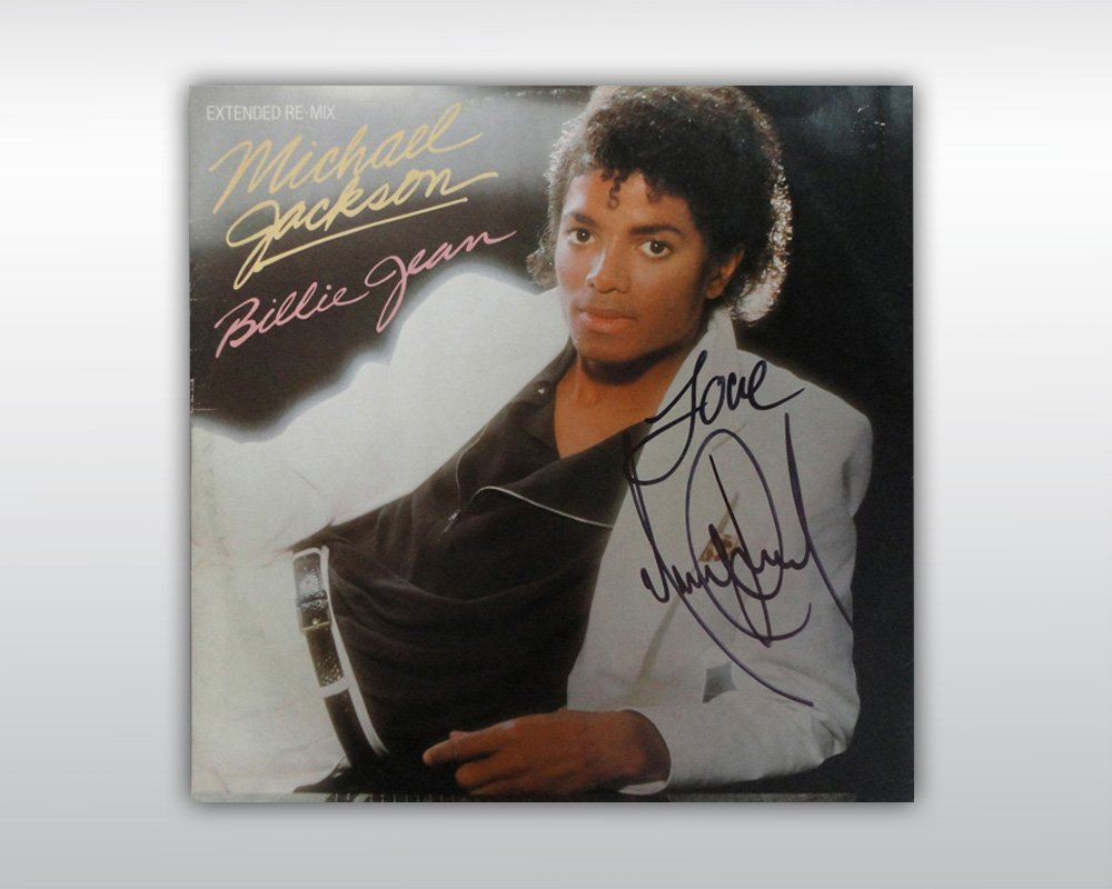MICHAEL JACKSON SIGNED BILLIE JEAN 12-INCH SINGLE