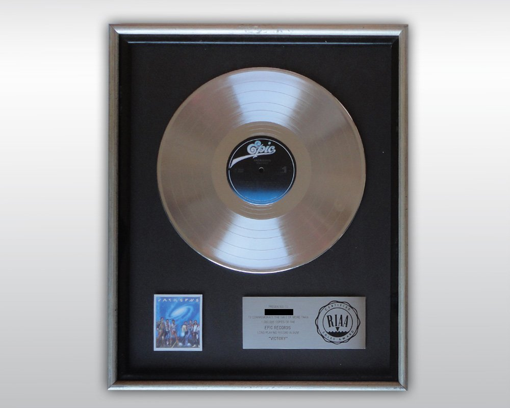 MICHAEL JACKSON JACKSONS VICTORY PLATINUM RIAA AWARD