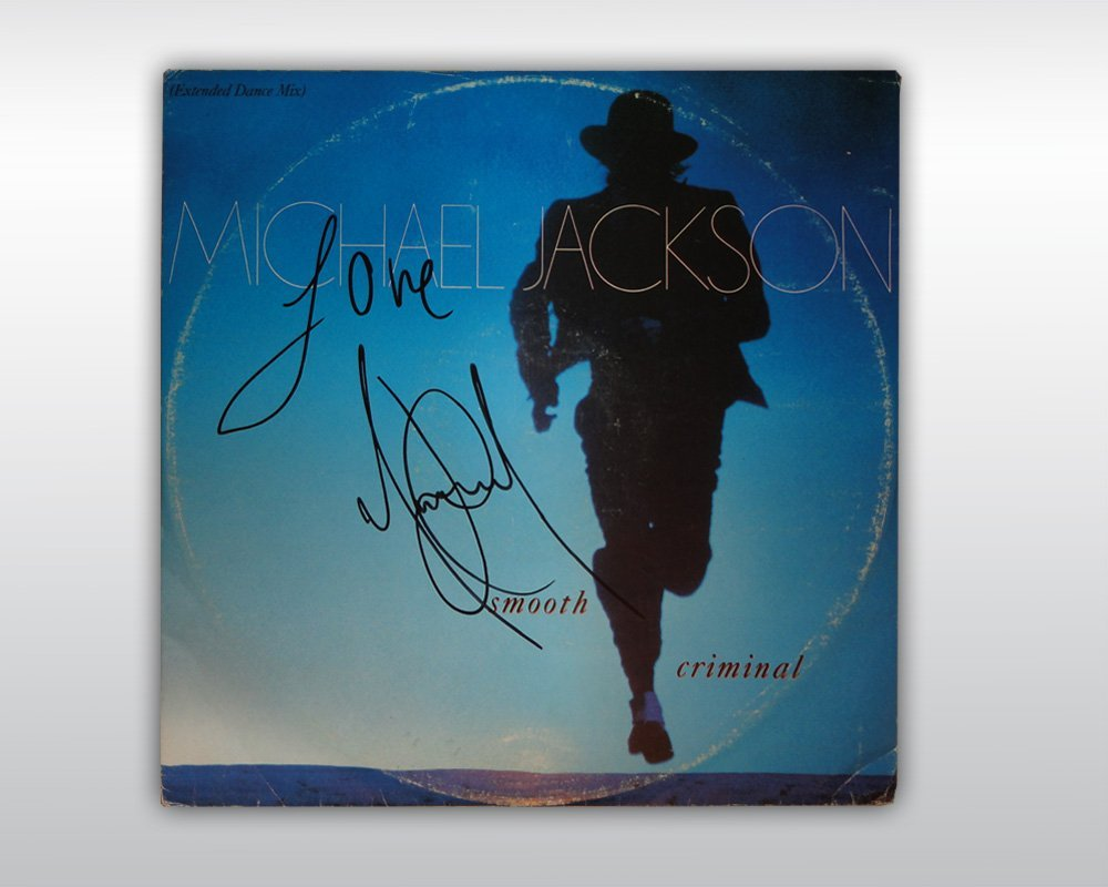 MICHAEL JACKSON SIGNED SMOOTH CRIMINAL 12-INCH SINGLE