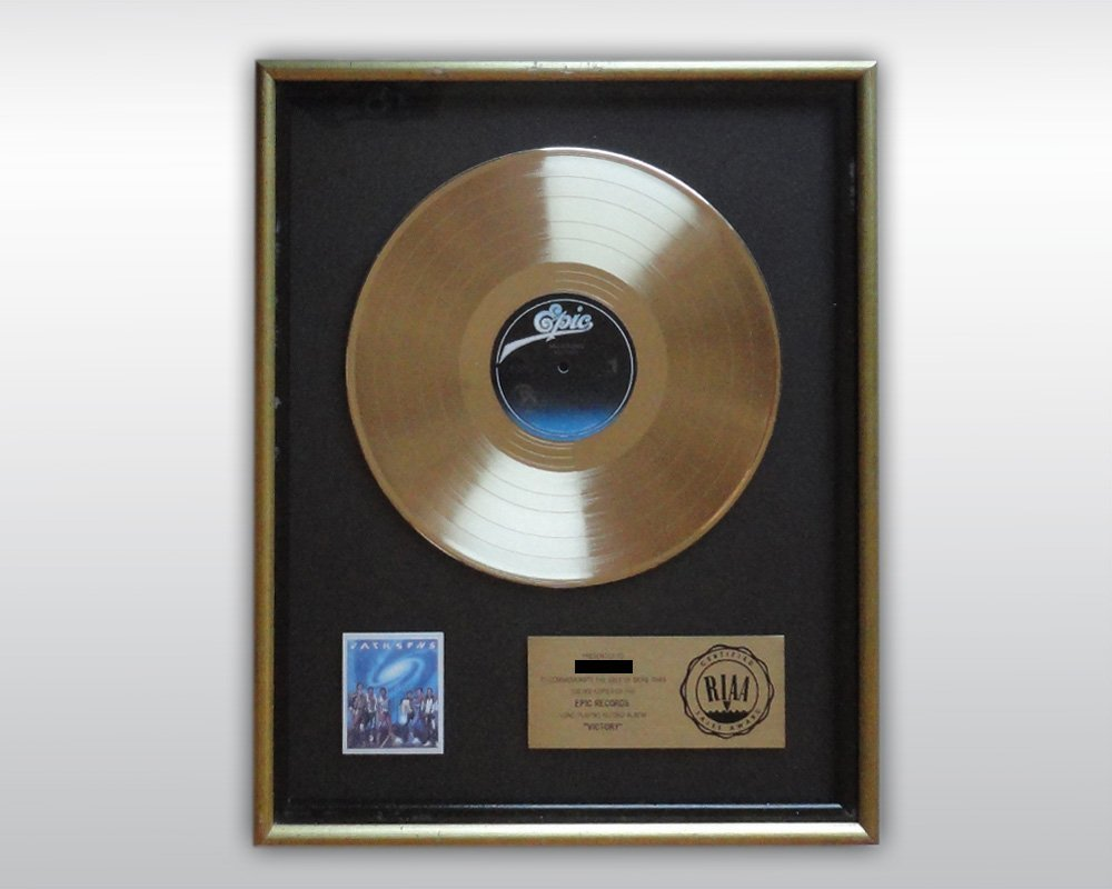 MICHAEL JACKSON THE JACKSONS VICTORY GOLD RIAA AWARD