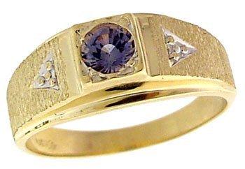 23: 10YG .61ct Montana Sapphire mans estate Ring