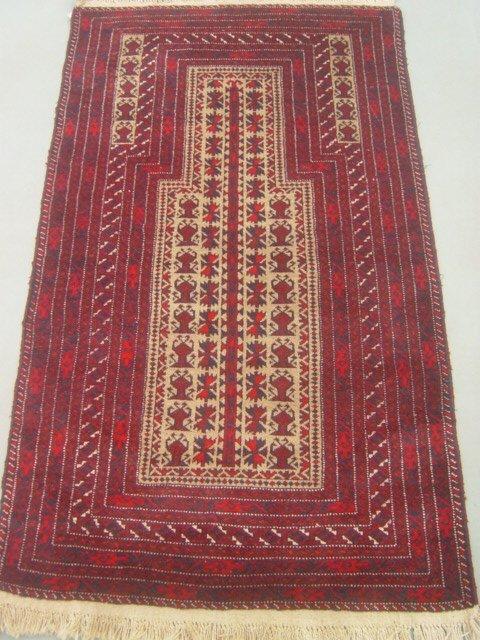 12:  Semi Antique Rugs Persian Prayer Baloch Rug 5x3