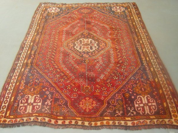 14:  Semi Antique Rugs Persian Shiraz Carpet 8x6